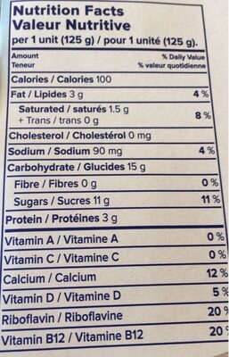 Dessert noix de coco - Nutrition facts - fr