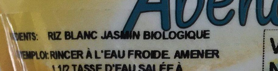 Riz blanc Jasmin biologiqu - Informations nutritionnelles - fr