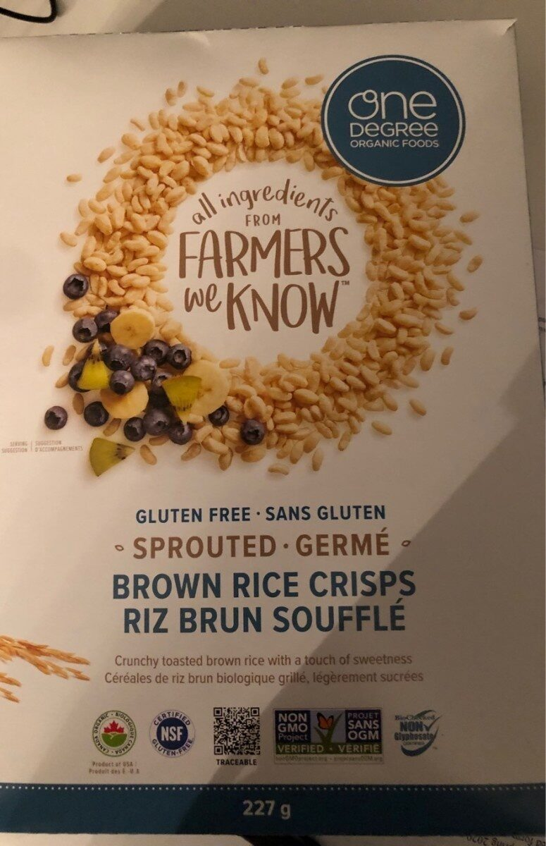 Brown rice crisps - Product - fr