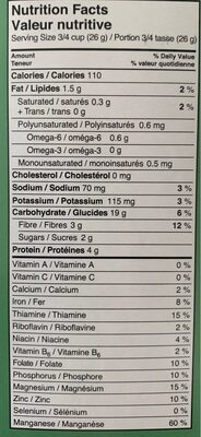 Oat O's - Nutrition facts - fr