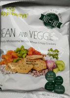Bean and Veggie Simply Wholesome Whole Wheat Crispy Crackers - Product - en