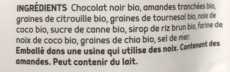 Rochers au chocolat noir et amandes - Ingrédients - fr