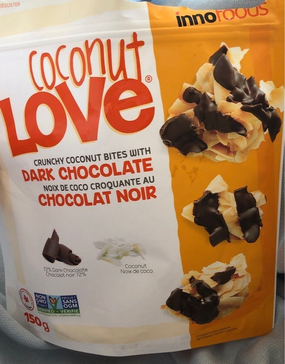 Crunchy coconut bites with dark chocolate - Produit - fr