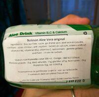 Aloe Drink Original Flavour - Nutrition facts - en