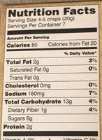 Artisan crisps - Nutrition facts - en