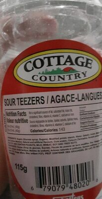 Sour teezers - Product - fr