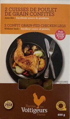 2 cuisses de poulet de grain confites - Product - fr