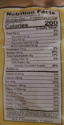 Wafelbakkers blueberry pancakes - Informations nutritionnelles - en