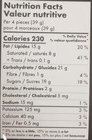 Selection - Nutrition facts - en
