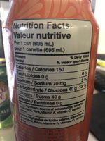 Peace tea peach - Informations nutritionnelles - fr