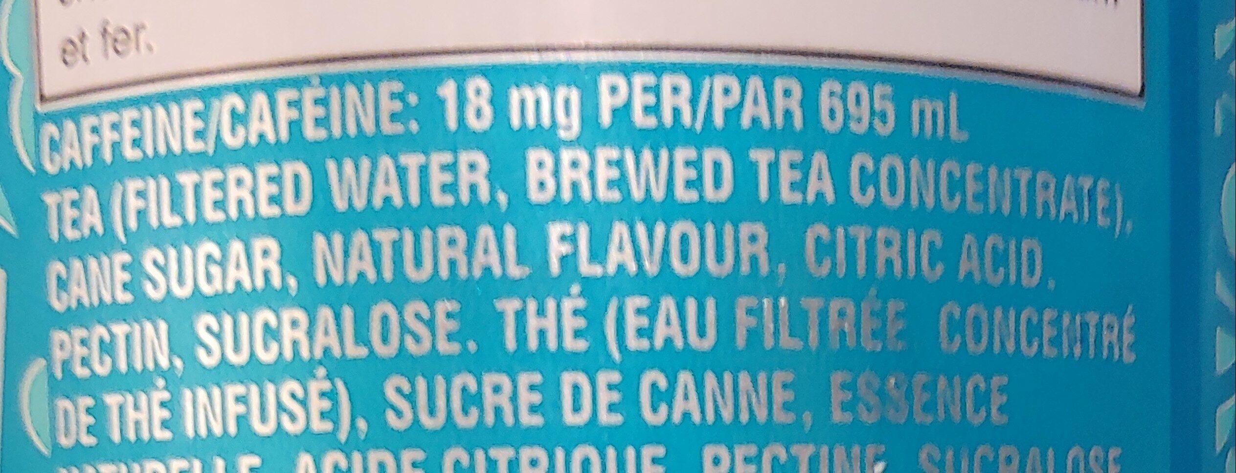 Peace tea sno-berry - Ingredients - en