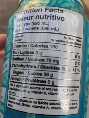 Peace tea sno-berry - Nutrition facts - en