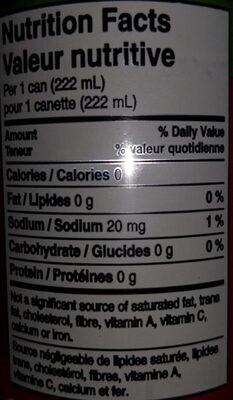 Coca-Cola Stevia - Informations nutritionnelles - en