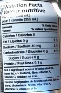 Diet Coke™ / Coke Diète🅫 - Informations nutritionnelles