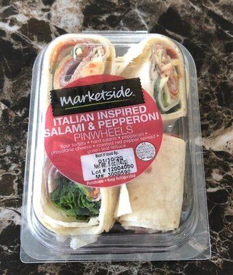 Italian inspired salami & pepperoni pinwheels - Product - en