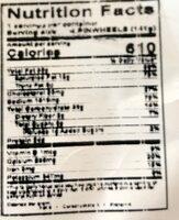 Italian inspired salami & pepperoni pinwheels - Nutrition facts - en