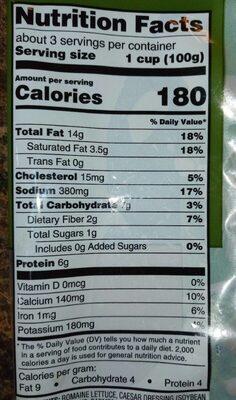 Caesar chopped salad kit - Nutrition facts - en