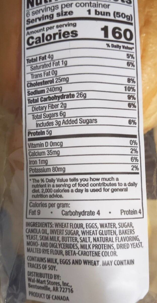 Brioche Buns - Nutrition facts - en