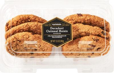 Decadent oatmeal raisin cookies - Produit - en