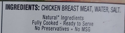 Premium Chunk Chicken Breast in Water - Ingredients