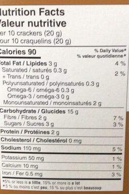 Craquelins minces au ble - Voedingswaarden - fr