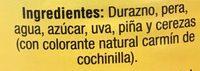 COCTÉL DE FRUTAS EN ALMÍBAR - Ingredientes - es