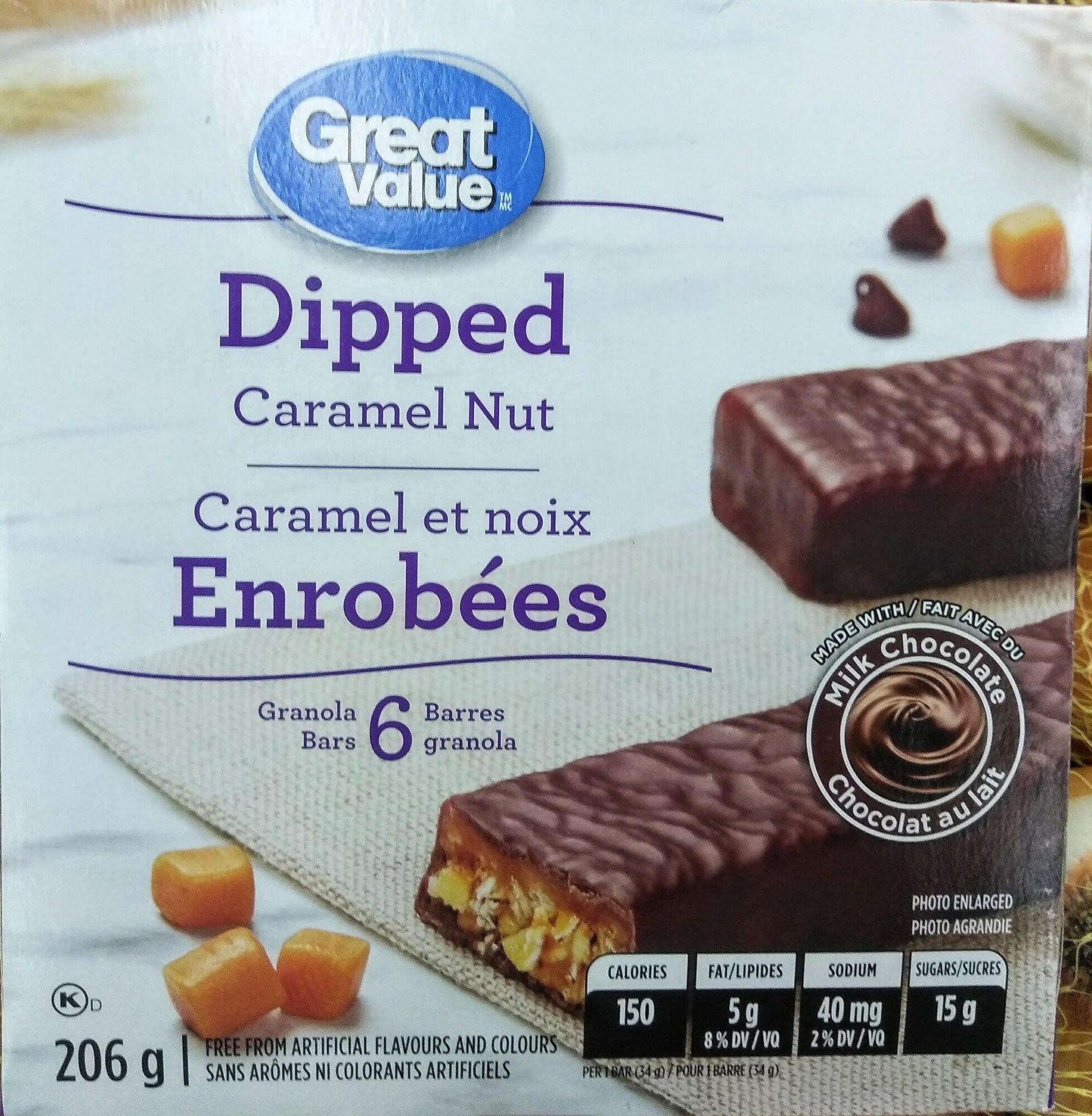 Dipped Caramel Nut Granola Bars - Product - en