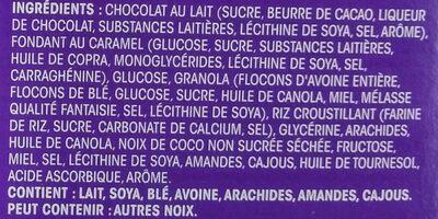 Dipped Caramel Nut Granola Bars - Ingrédients - fr