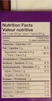 Dipped Caramel Nut Granola Bars - Nutrition facts - en