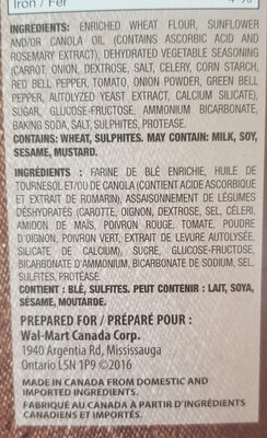 Vegetable crackers - Ingredients - en