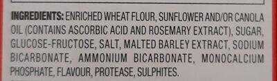Great Value Round Original Baked Snack Crackers - Ingredients - en