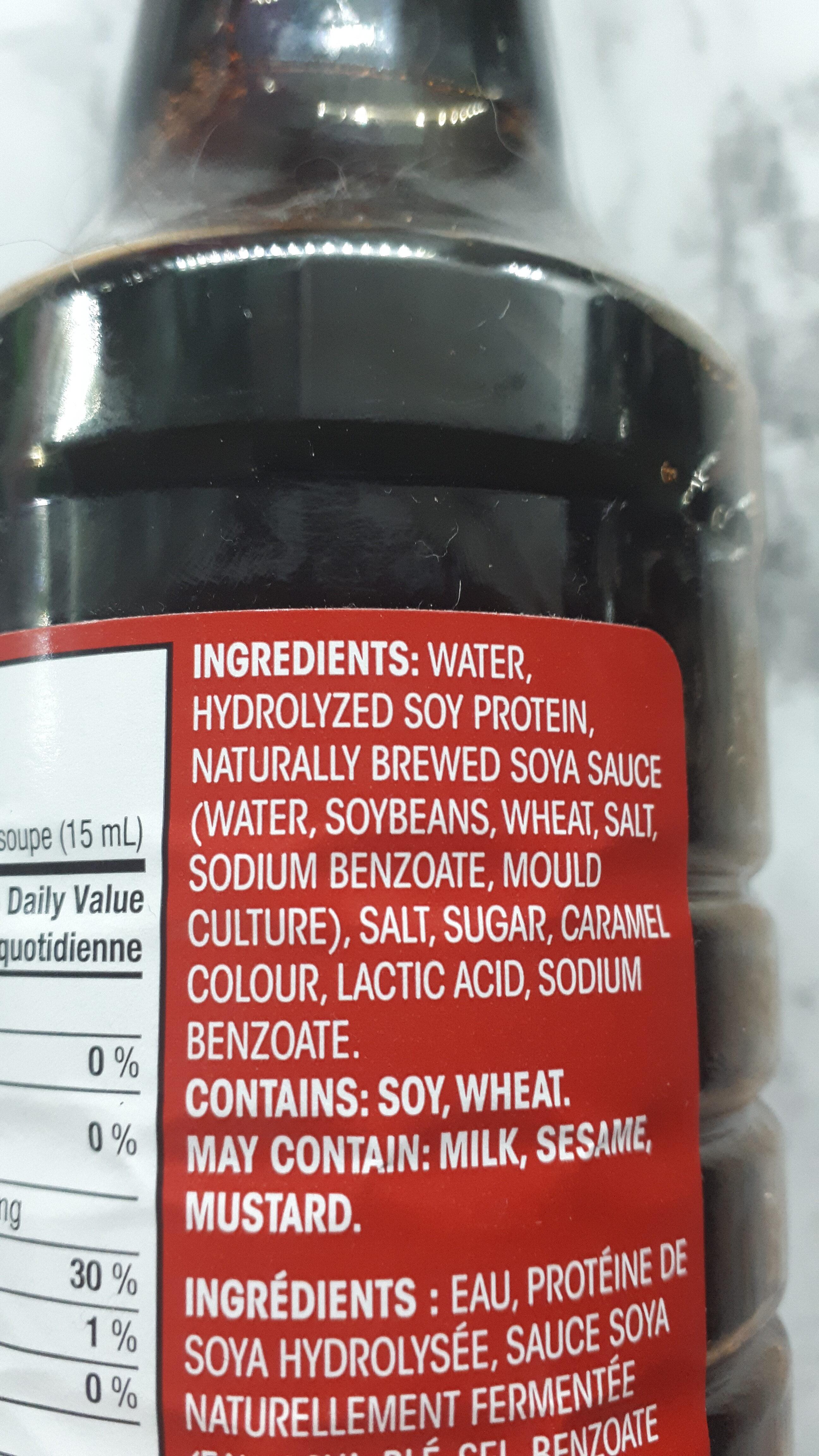 Sauce Soya - Ingredients - fr