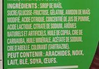 Gummy treats / Friandises en gélatine - Ingrédients