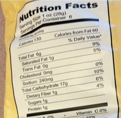 Veggie chips - Nutrition facts - en