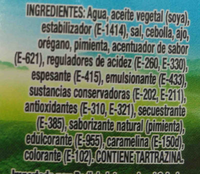 Hartson's - Ingredients