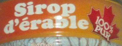 Sirop d'Érable - Ingredients