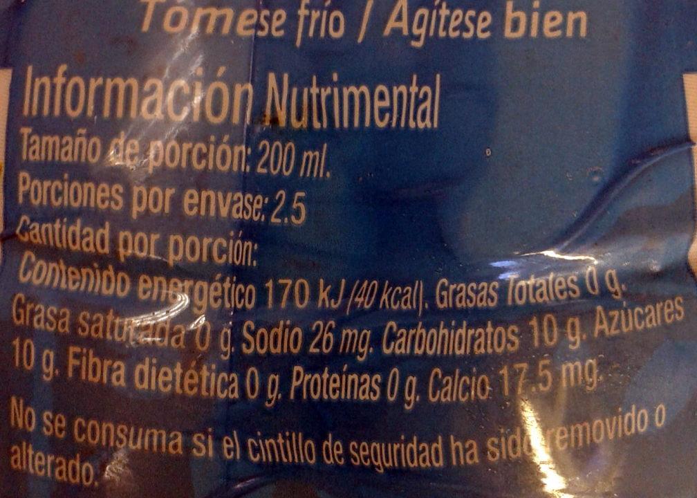 Jaztea bajo en calorías - Voedingswaarden