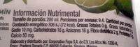 El original - Nutrition facts - es