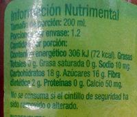 Kids - Nutrition facts - es