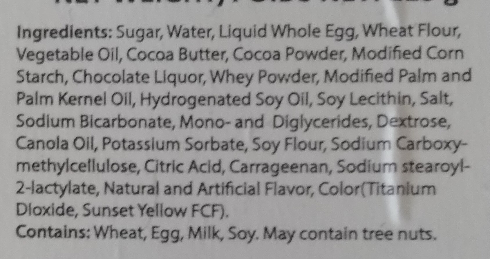 Chocolate Lava Cake - Ingredients - en