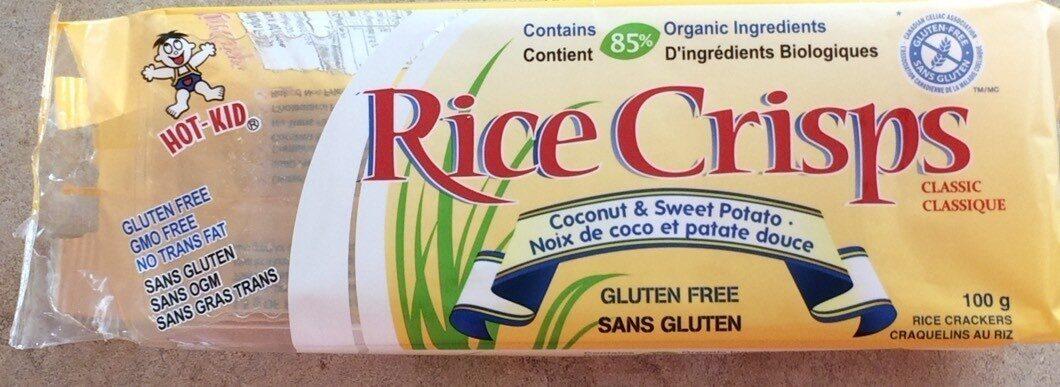 Craquelins au riz noix de coco et patate douce - Produit - fr
