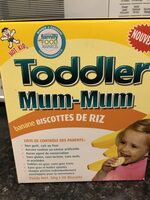 Toddler mum-mum banana rice biscuits - Product - en