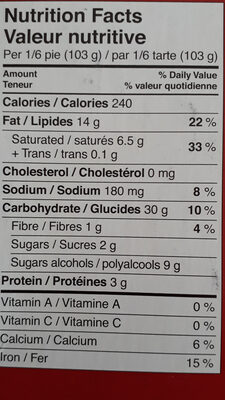 ape valley - Informations nutritionnelles