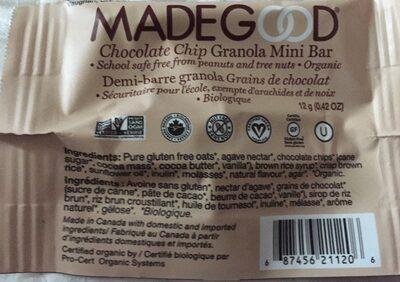 Chocolate Chip Granola mini bar - Produit