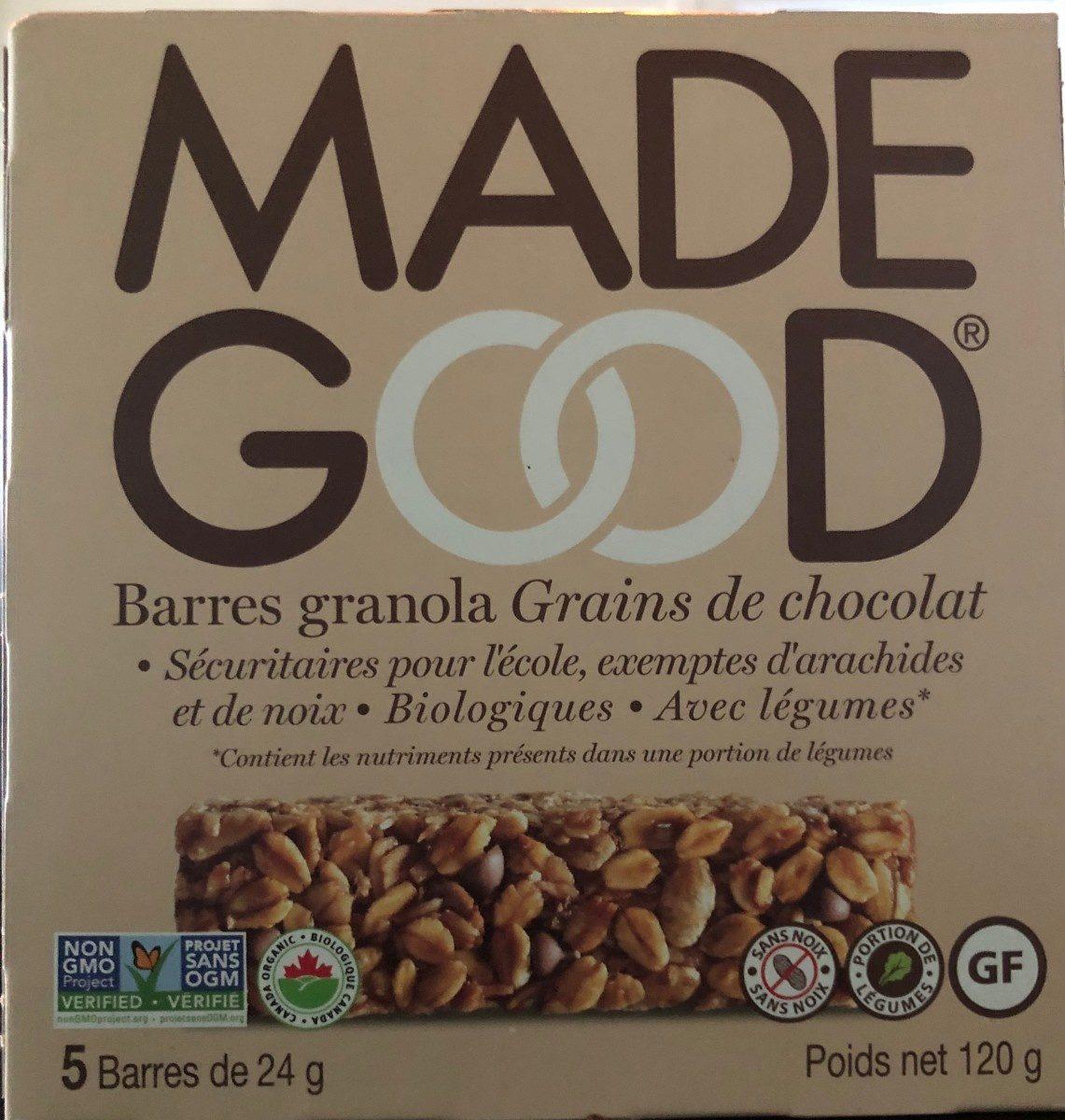 Barres de céréales made good grains de chocolat - Product - fr