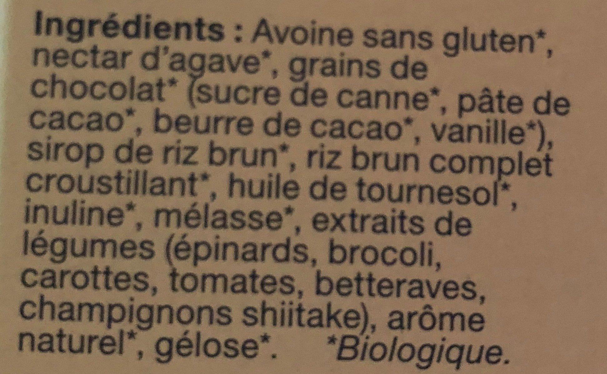 Barres de céréales made good grains de chocolat - Ingredients - fr