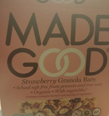 MadeGood Strawberry Granola Bars - Product