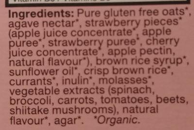 MadeGood Strawberry Granola Bars - Ingrediënten