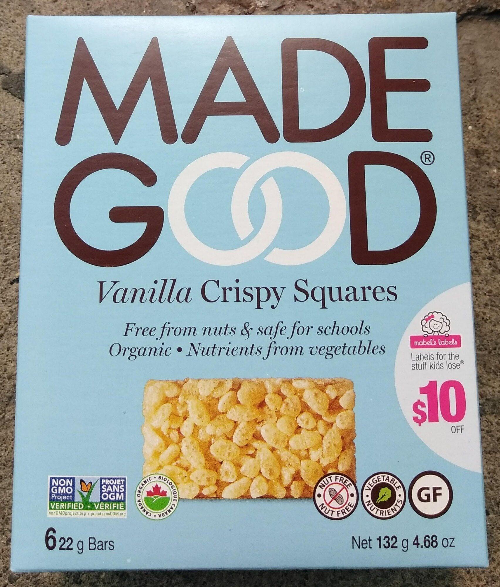 Carrés croustillants à la vanille - Product - en