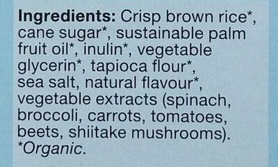 Carrés croustillants à la vanille - Ingredients